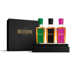 BELLEVOYE COFFRET PRESTIGE  - Vert, Noir, Prune  - Whisky Triple Malt de France  - 3x20cl
